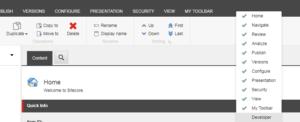Enable Developer Toolbar